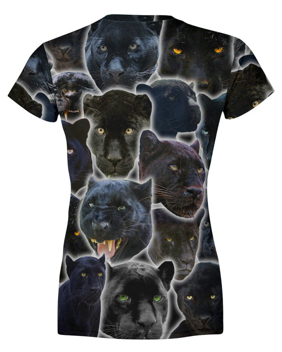 Black Panther Animal Womens T-shirt