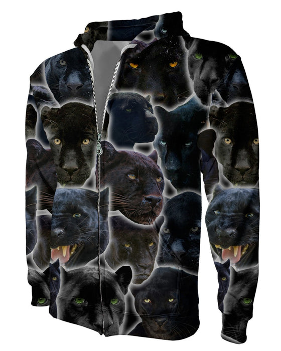 Black Panther Animal Zip Hoodie