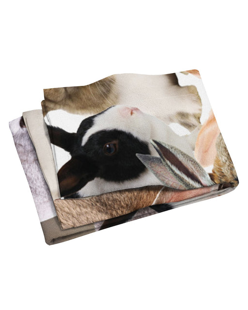 Chubby Rabbits Beach Towel
