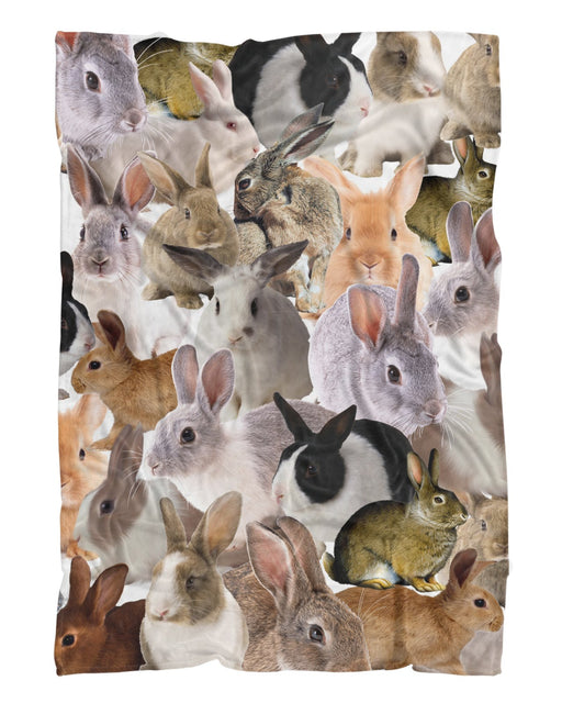 Chubby Rabbits printed all over in HD on premium fabric. Handmade in California.