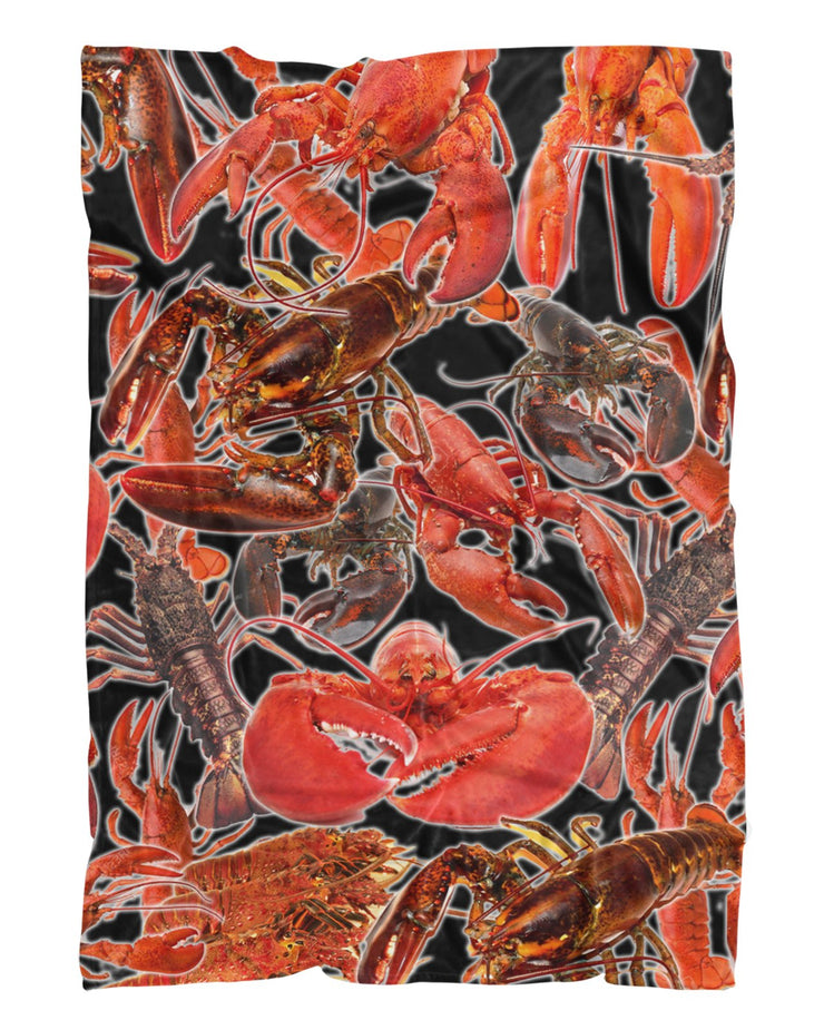 Lobsters Fluffy Micro Fleece Throw Blanket