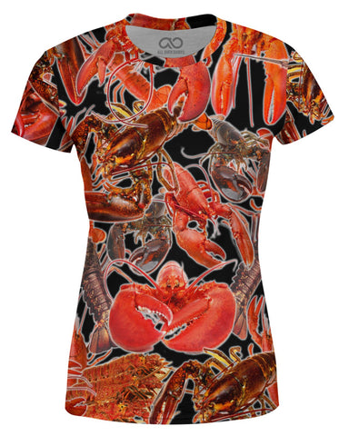 Lobsters printed all over in HD on premium fabric. Handmade in California.