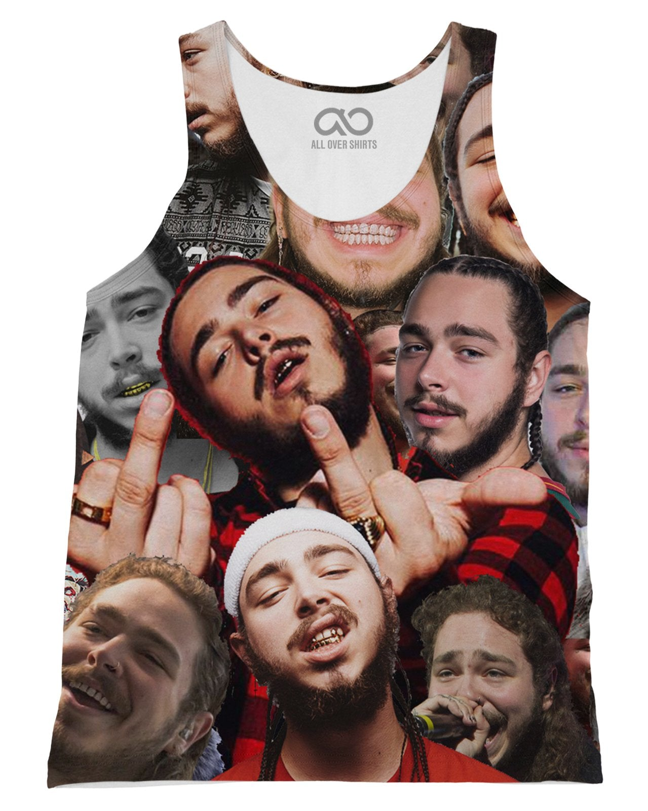Post Malone printed all over in HD on premium fabric. Handmade in California.