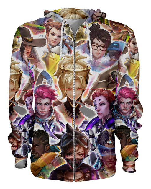 Overwatch Characters printed all over in HD on premium fabric. Handmade in California.