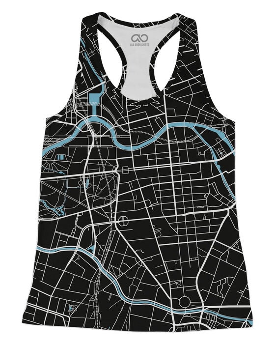Berlin Map printed all over in HD on premium fabric. Handmade in California.