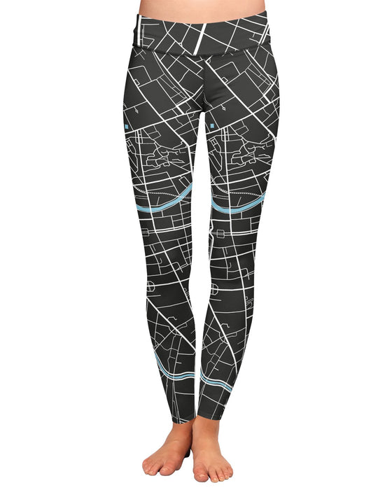 Berlin Map Yoga Leggings