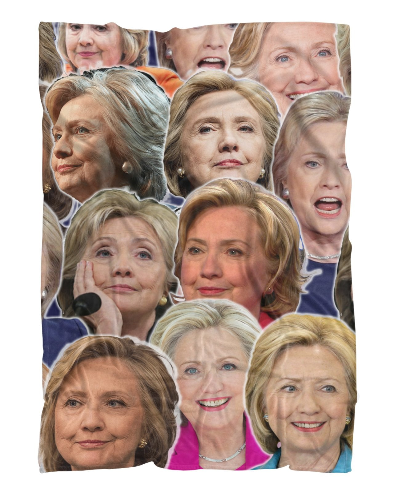 Hillary Clinton Fluffy Micro Fleece Throw Blanket