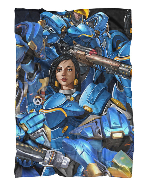 Pharah printed all over in HD on premium fabric. Handmade in California.
