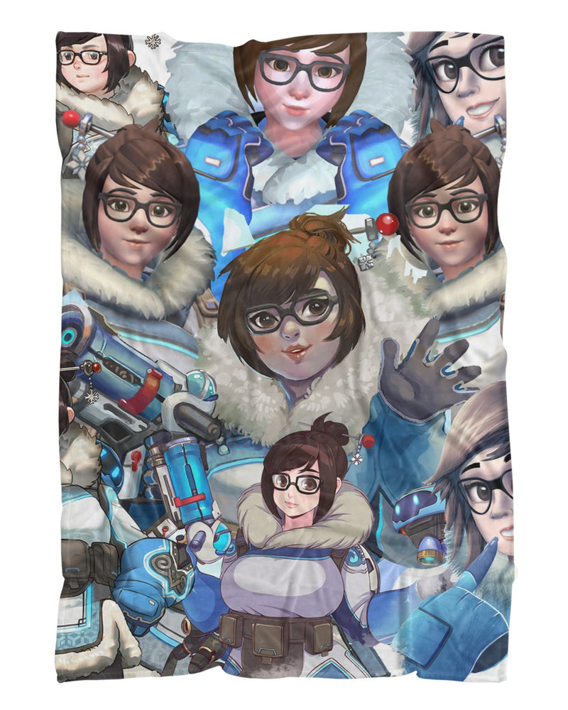 Mei Overwatch printed all over in HD on premium fabric. Handmade in California.