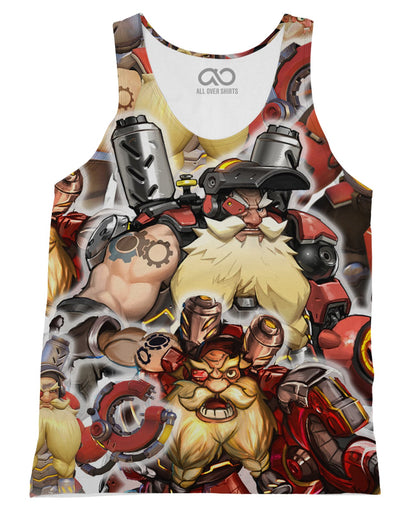 Torbjorn printed all over in HD on premium fabric. Handmade in California.