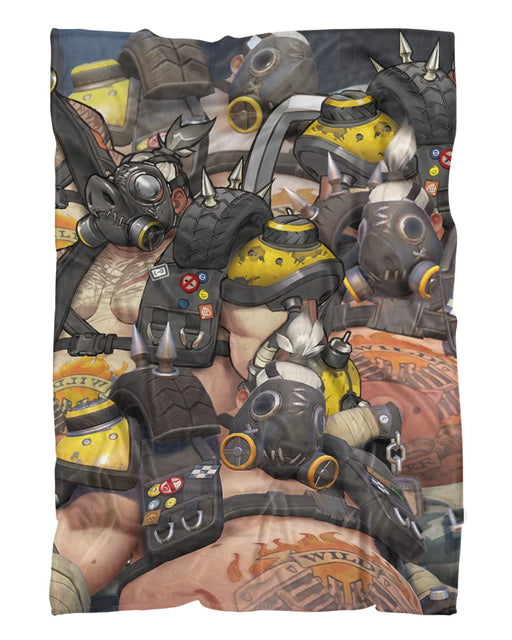 Roadhog Overwatch printed all over in HD on premium fabric. Handmade in California.