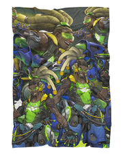 Lucio Fluffy Micro Fleece Throw Blanket
