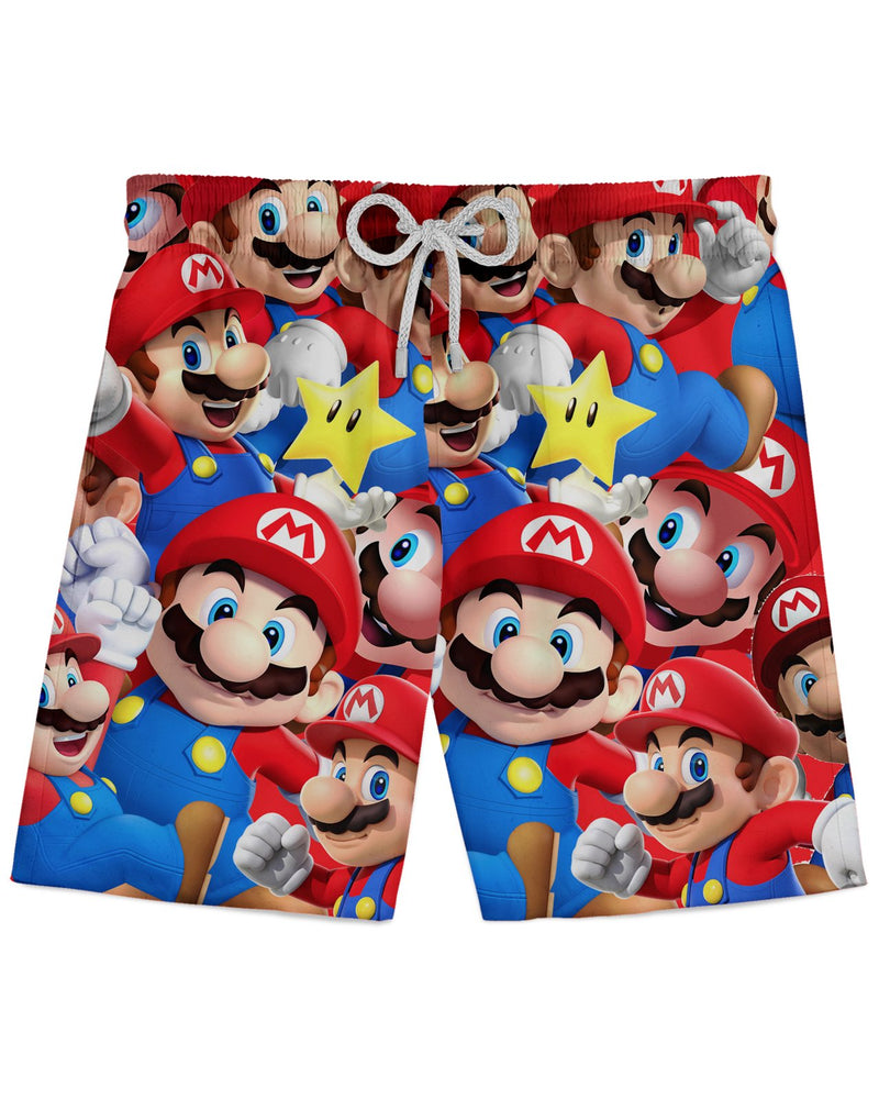 Mario printed all over in HD on premium fabric. Handmade in California.