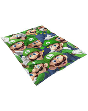 Luigi Fluffy Micro Fleece Throw Blanket