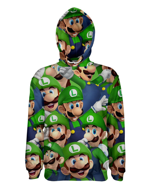 Luigi printed all over in HD on premium fabric. Handmade in California.