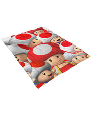 Toad Fluffy Micro Fleece Throw Blanket