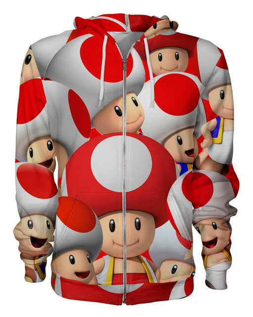 Toad printed all over in HD on premium fabric. Handmade in California.