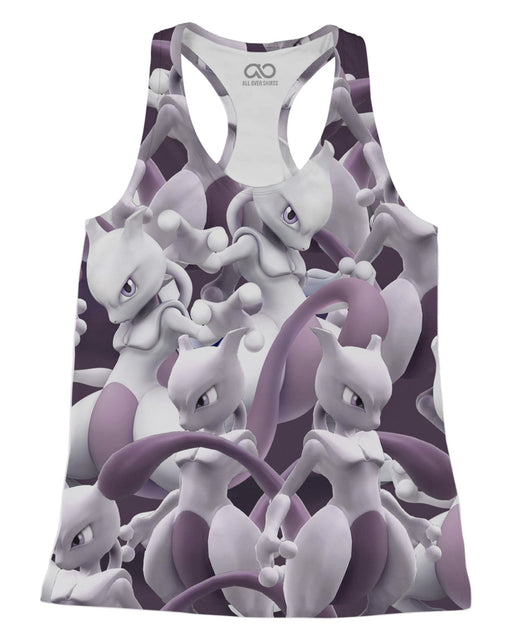 Mewtwo printed all over in HD on premium fabric. Handmade in California.
