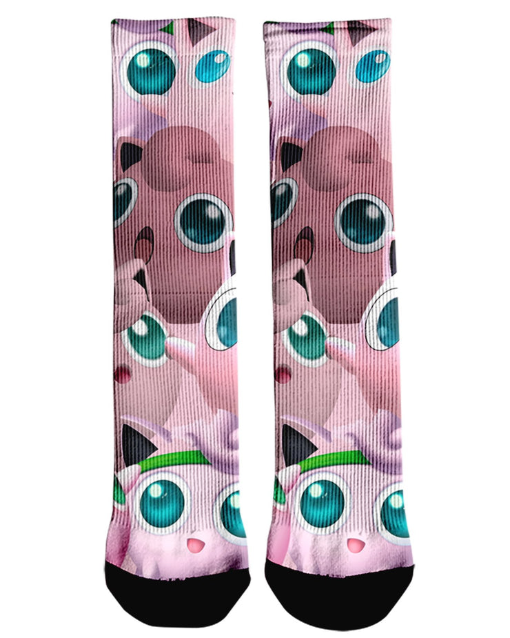 Jigglypuff Super Smash Bros Crew Socks