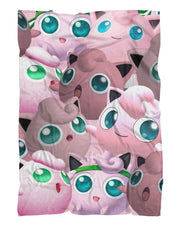 Jigglypuff Super Smash Bros Fluffy Micro Fleece Throw Blanket