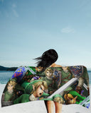 Link Super Smash Bros Beach Towel