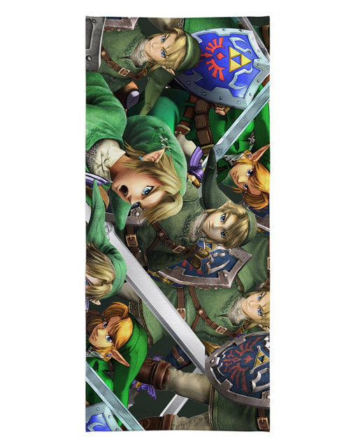 Link Super Smash Bros printed all over in HD on premium fabric. Handmade in California.