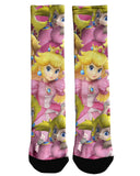 Peach Super Smash Bros Crew Socks