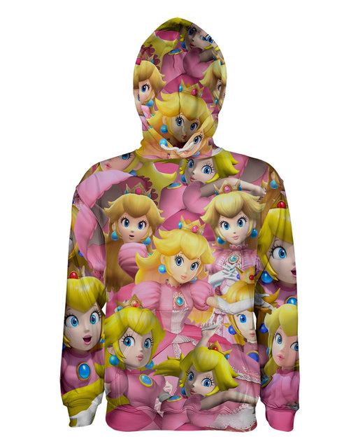 Peach Super Smash Bros printed all over in HD on premium fabric. Handmade in California.