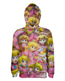 Peach Super Smash Bros Pullover Hoodie