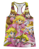Peach Super Smash Bros Racerback-Tank