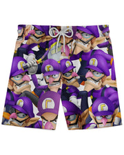 Waluigi Super Smash Bros Athletic Shorts
