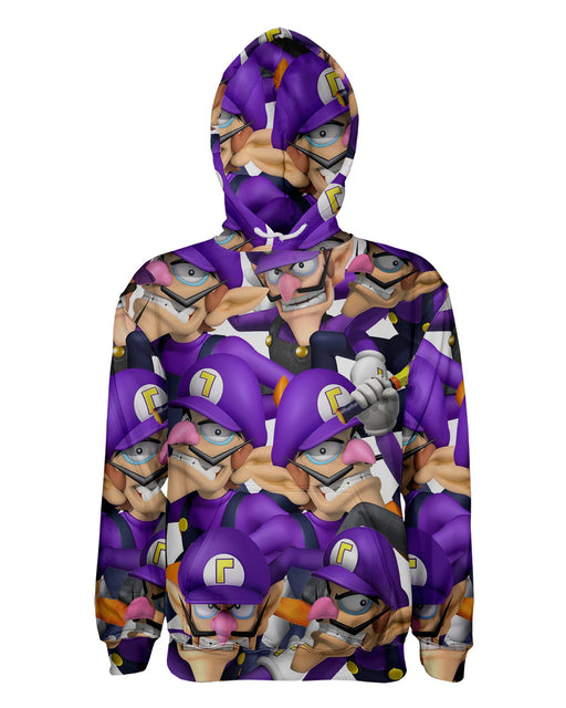 Waluigi Super Smash Bros printed all over in HD on premium fabric. Handmade in California.