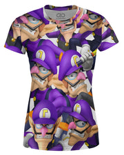 Waluigi Super Smash Bros Women's T-shirt