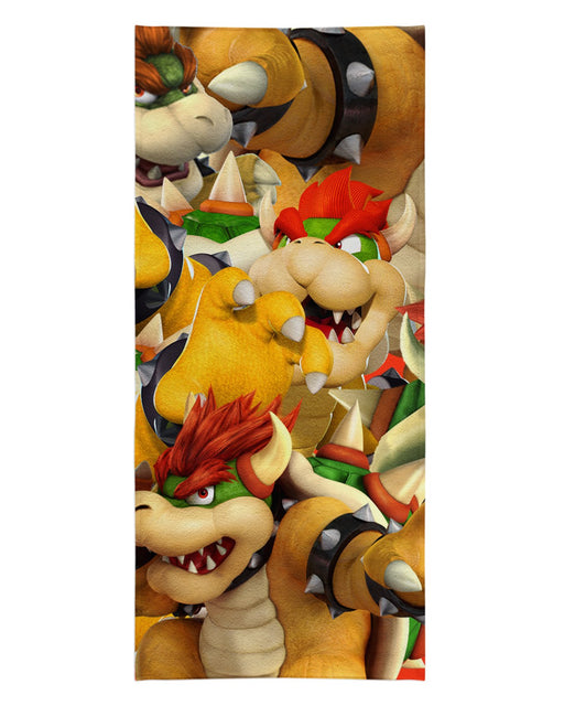 Bowser printed all over in HD on premium fabric. Handmade in California.