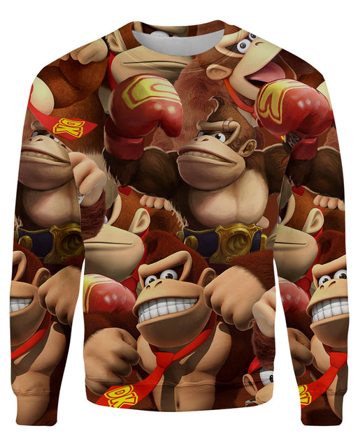 Donkey Kong printed all over in HD on premium fabric. Handmade in California.
