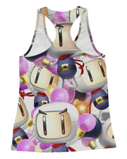 Bomberman Super Smash Bros Racerback-Tank