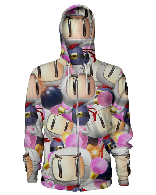 Bomberman Super Smash Bros Zip Hoodie
