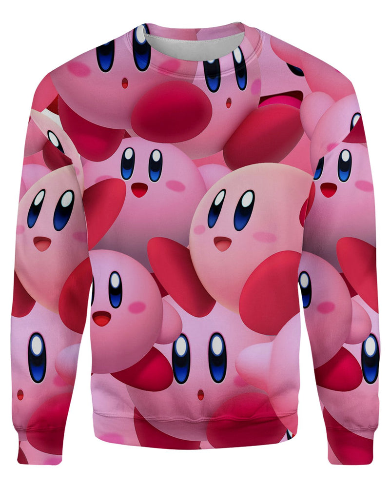 Kirby Super Smash Bros printed all over in HD on premium fabric. Handmade in California.