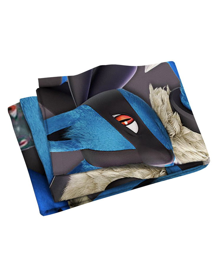 Lucario Super Smash Bros Beach Towel