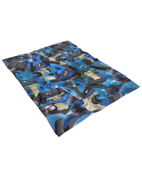Lucario Super Smash Bros Fluffy Blanket