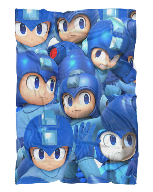 Megaman Super Smash Bros printed all over in HD on premium fabric. Handmade in California.