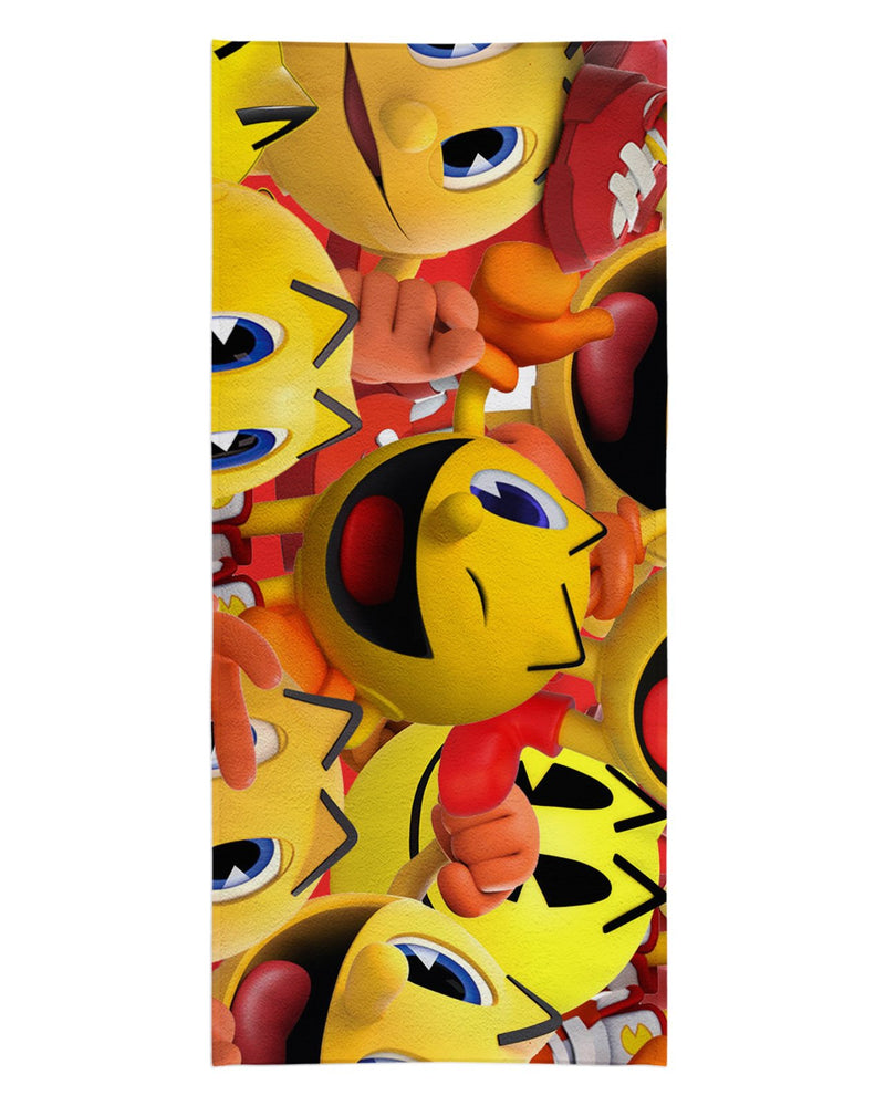 Pacman Super Smash Bros Beach Towel