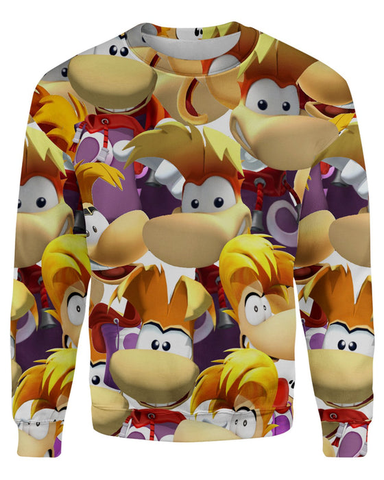 Rayman Super Smash Bros printed all over in HD on premium fabric. Handmade in California.