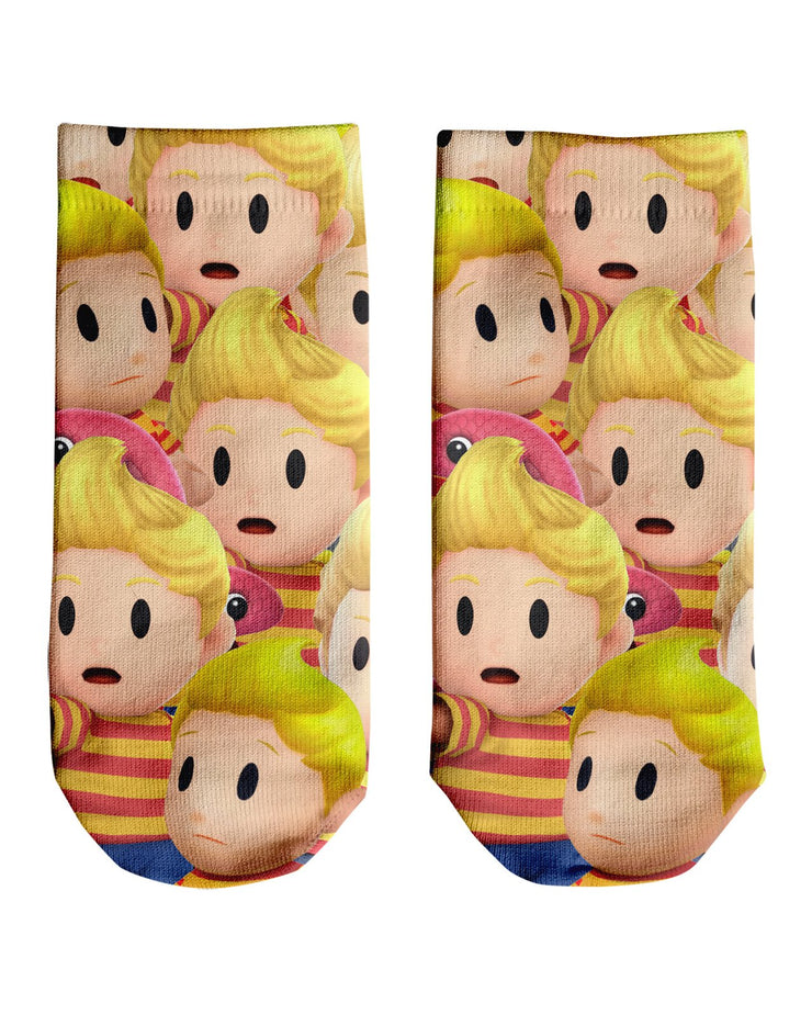 Lucas Super Smash Bros Ankle Socks