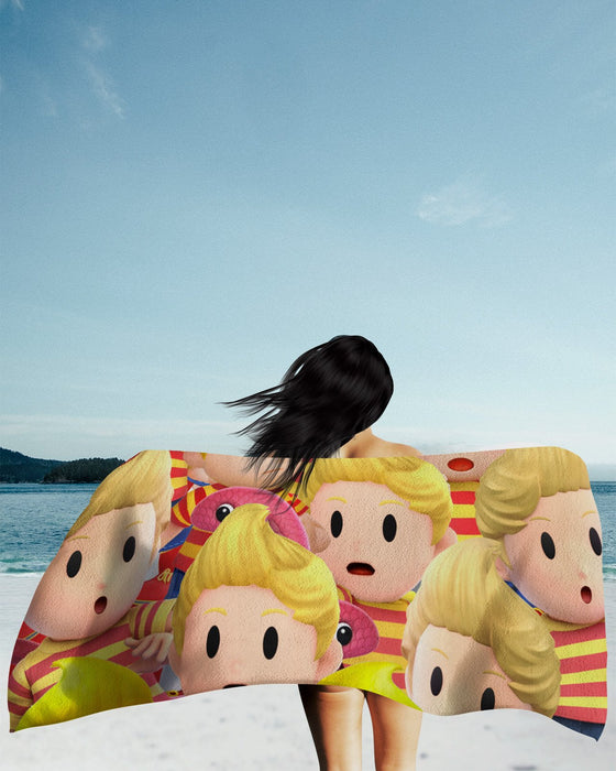 Lucas Super Smash Bros Beach Towel