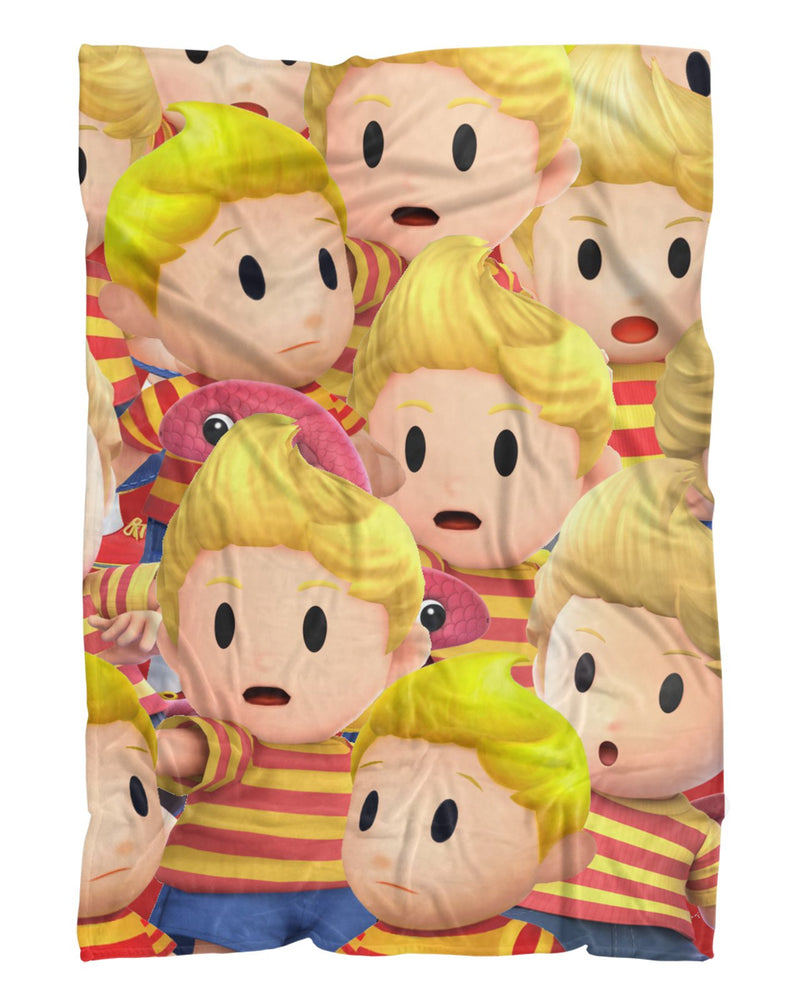 Lucas Super Smash Bros printed all over in HD on premium fabric. Handmade in California.