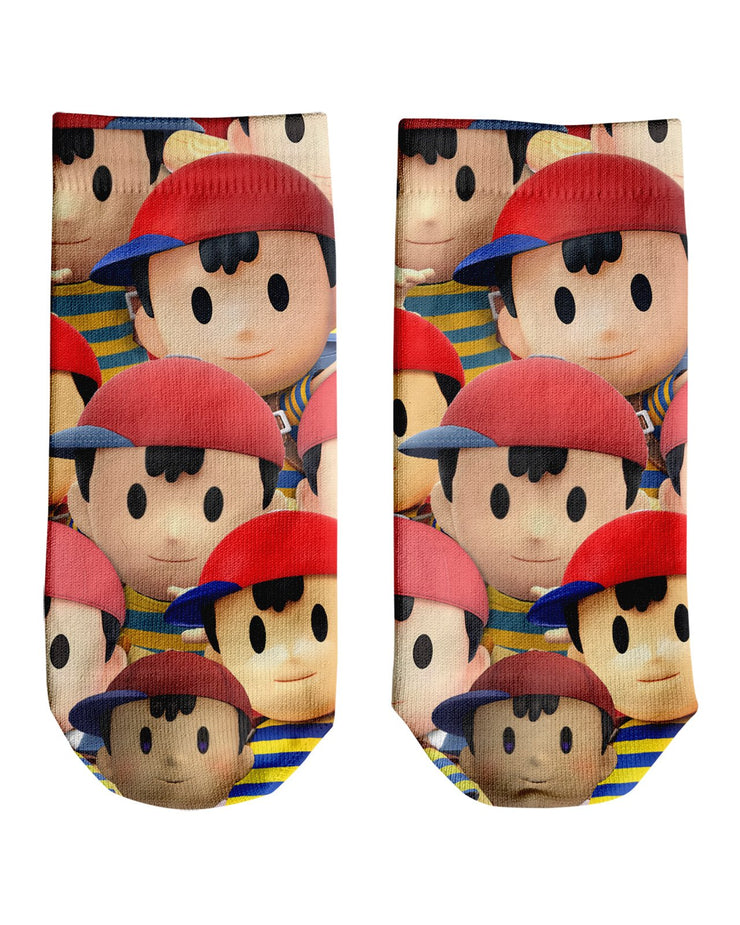 Ness Super Smash Bros Ankle Socks