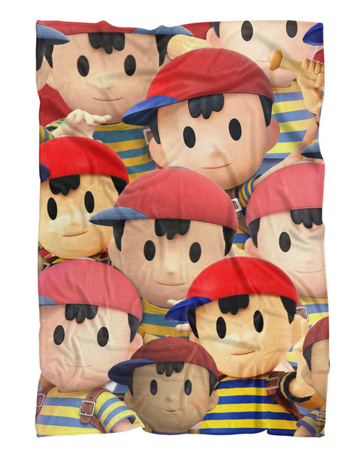 Ness Super Smash Bros Fluffy Blanket