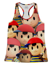 Ness Super Smash Bros Racerback-Tank