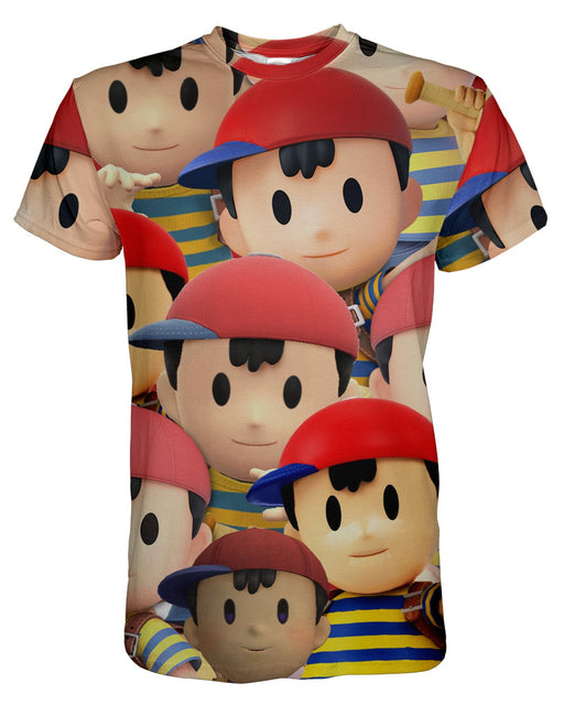 Ness Super Smash Bros printed all over in HD on premium fabric. Handmade in California.